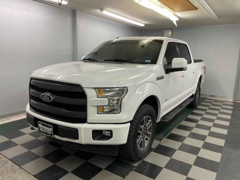 2017 Oxford White /Black Leather Ford F-150 Lariat FX4 (1FTEW1EGXHK) with an 3.5L V6 Turbo EcoBoost engine, Automatic transmission, located at 9900 Woodway Drive, Woodway, TX, 76712, (254) 751-1444, 31.493961, -97.228523 - Photo #0
