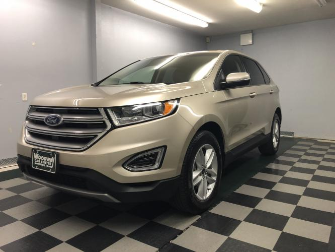 2017 Silver Sky Metallic /Tan Cloth Ford Edge SEL (2FMPK3J93HB) with an 2.0L L4 DOHC 16V engine, Automatic transmission, located at 9900 Woodway Drive, Woodway, TX, 76712, (254) 751-1444, 31.493961, -97.228523 - Photo #0